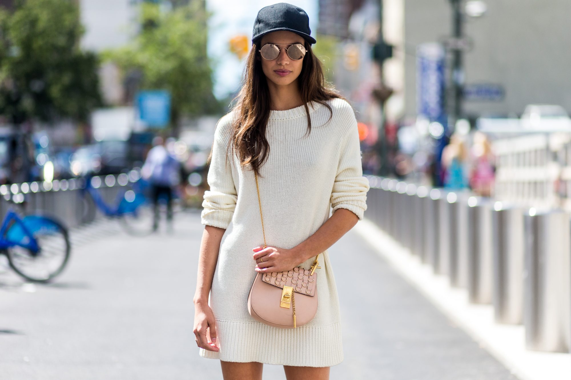 Picture of NYFW Street Style White Dress