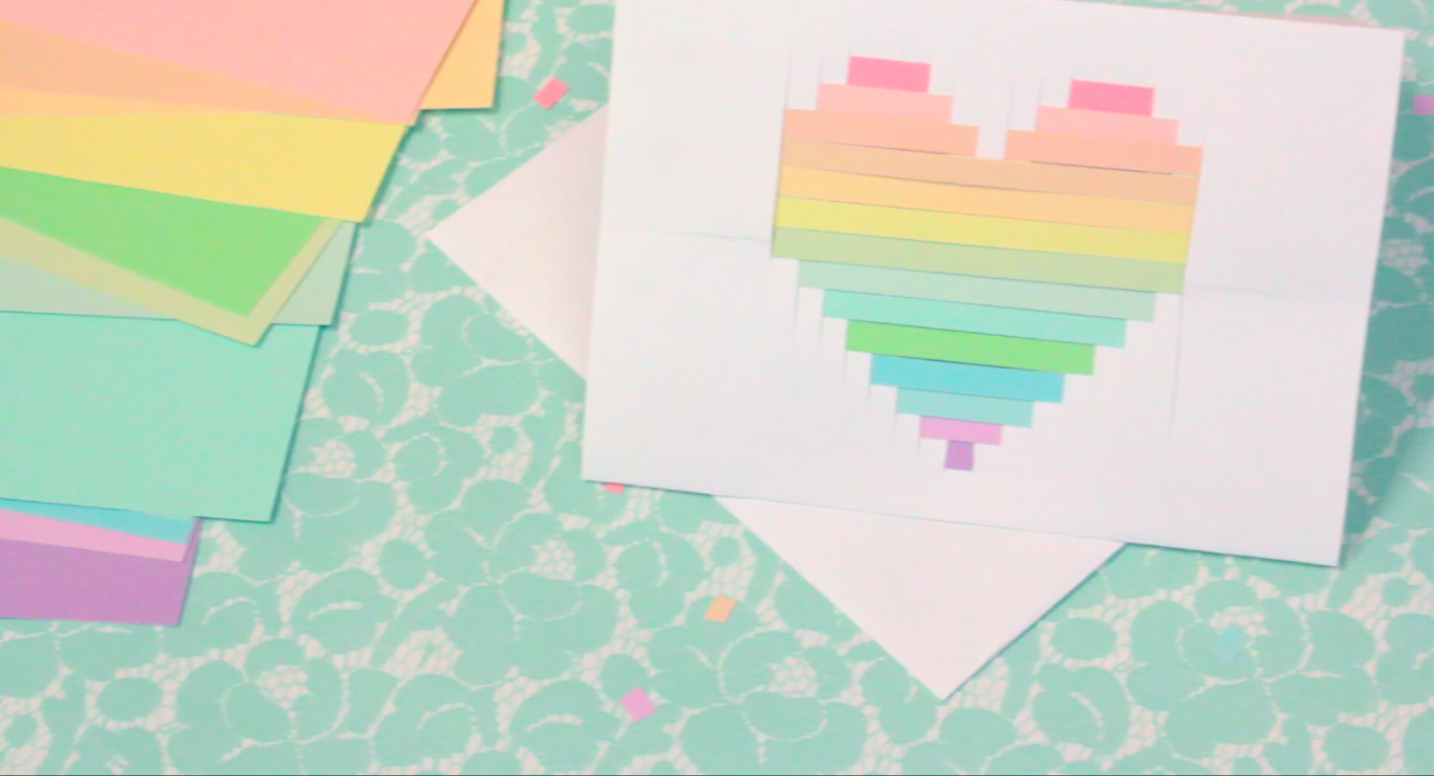 Pixelated Card