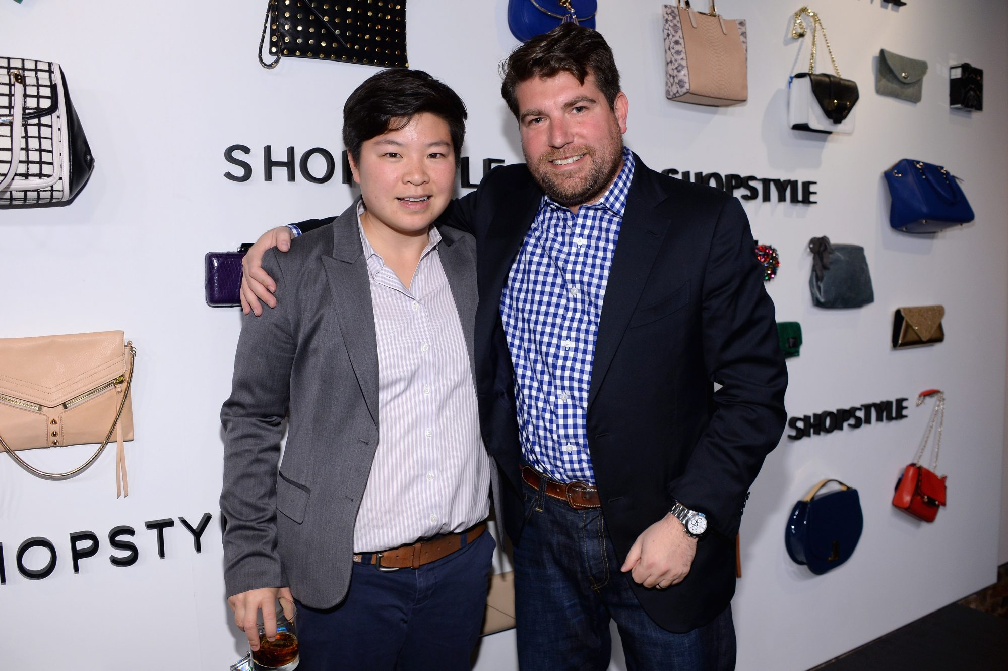 Wong poses with Brian Sugar