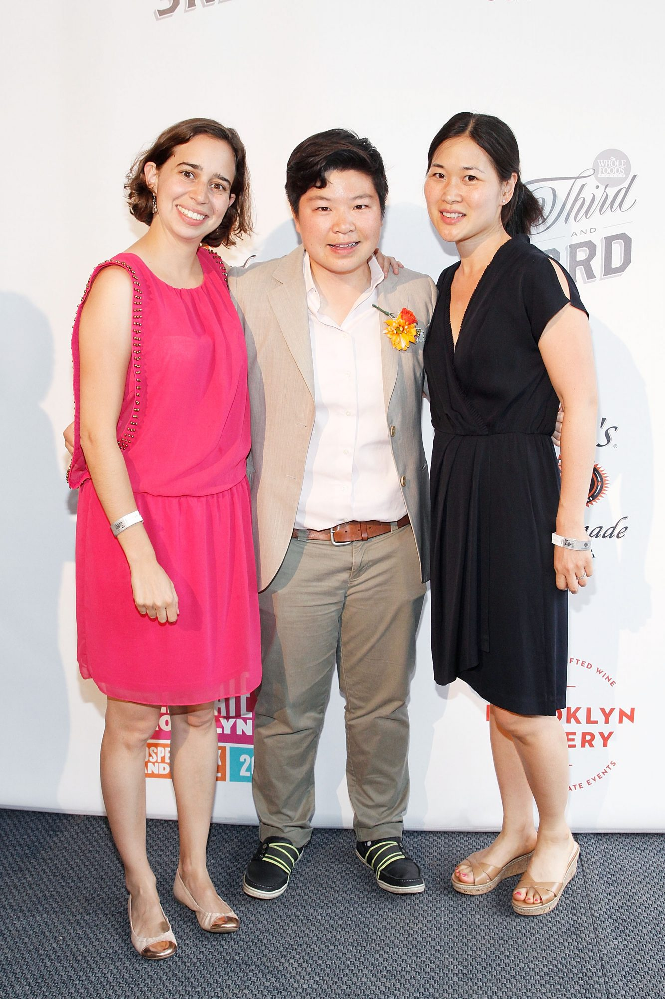 Wong, center, at the Celebrate Brooklyn! Opening Night Gala.