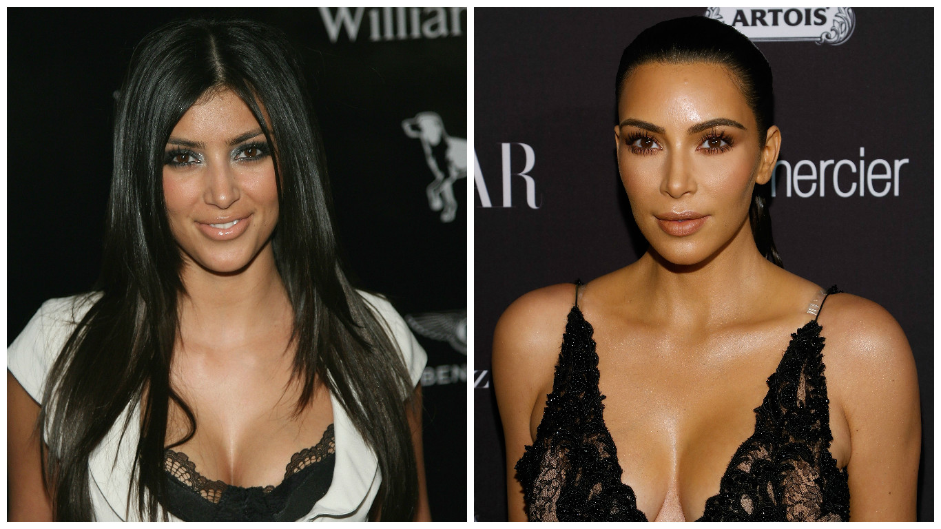 Picture of Kim Kardashian Then and Now