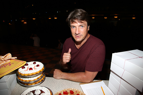 """Nathan Fillion Visits The Cast Of Broadway's """"Waitress"""""""