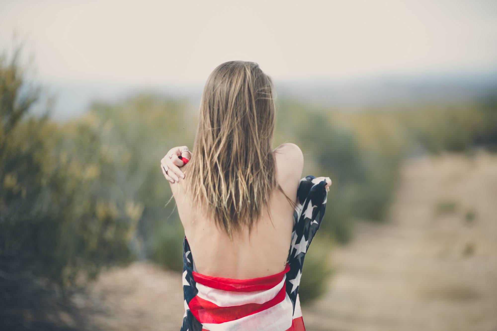 model american flag