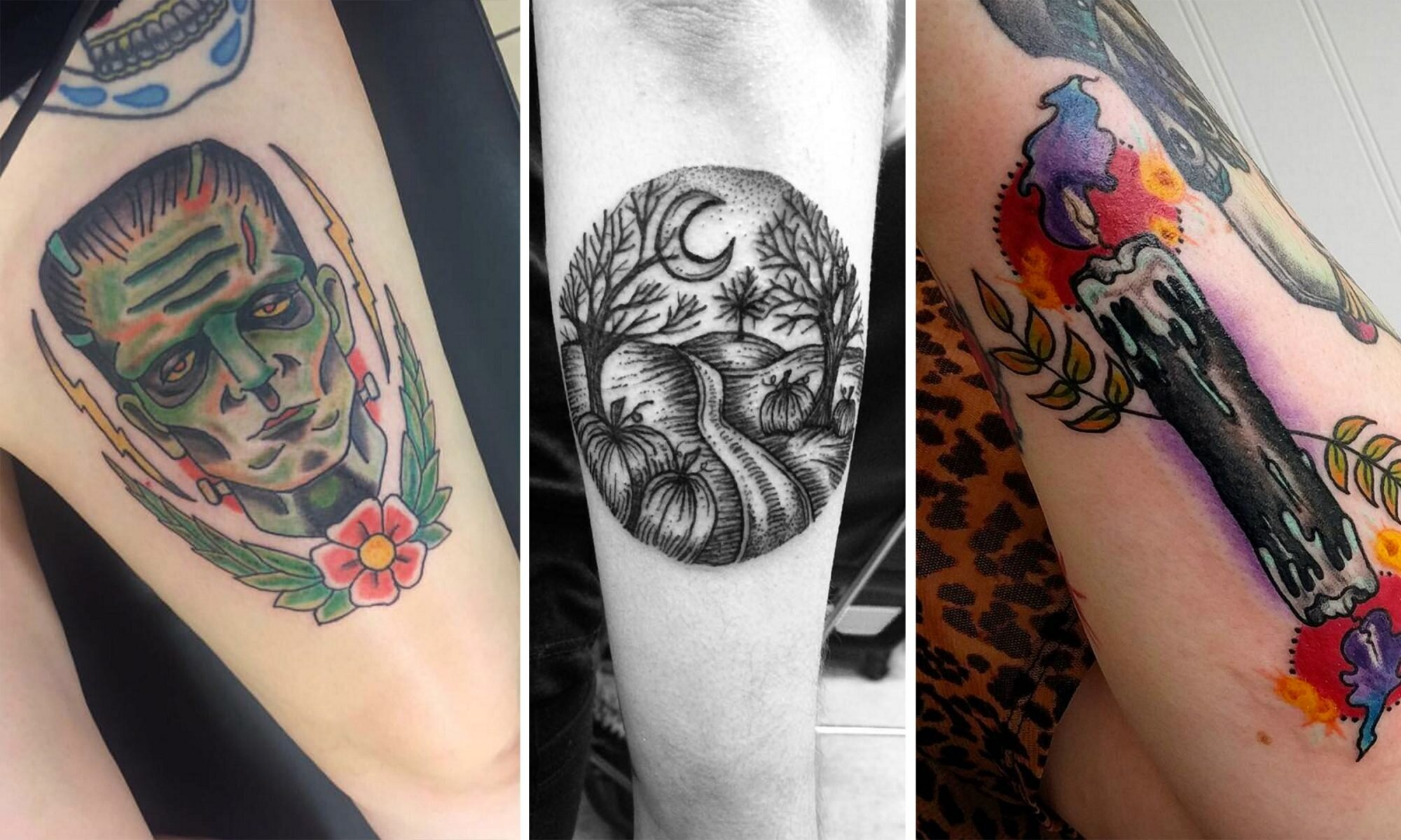 Halloween Tattoos.These 13 People Love Halloween So Much They Got It Tattooed On Their Bodies Hellogiggles