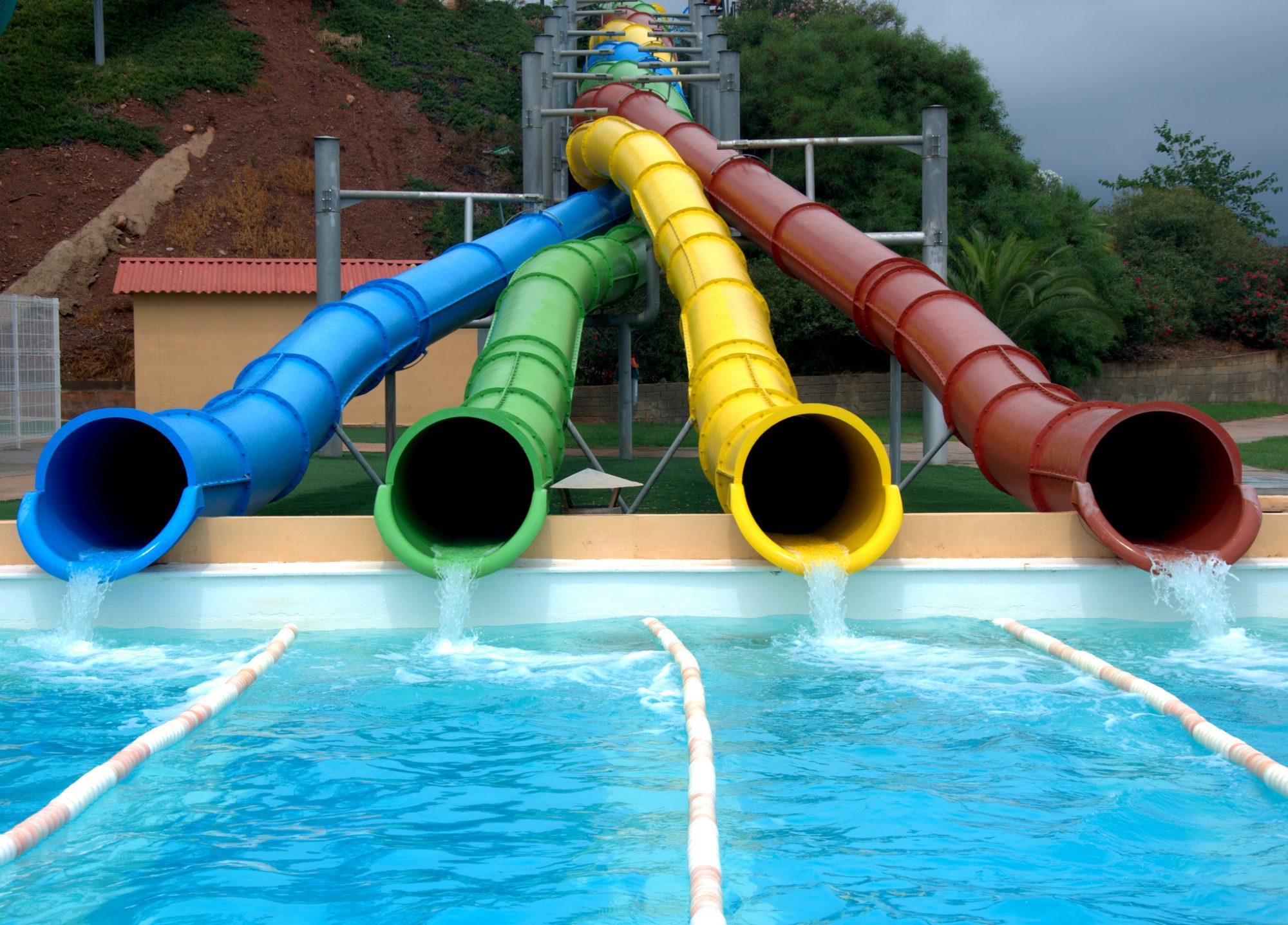 Water park slides