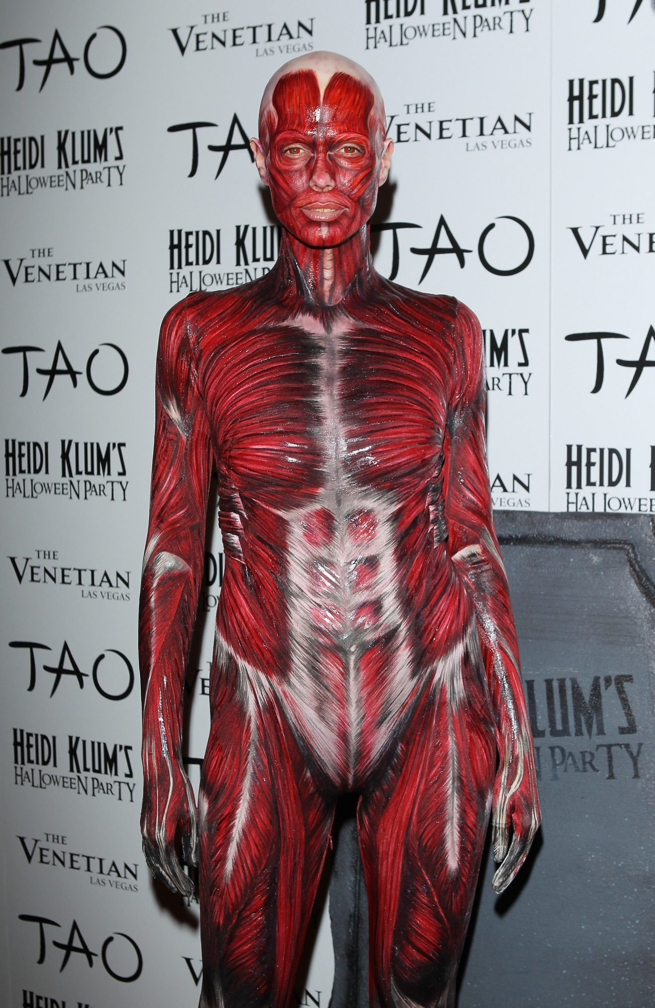 LAS VEGAS, NV - OCTOBER 29:  Heidi Klum arrives at her 12th Annual Halloween Party at TAO Nightclub at The Venetian on October 29, 2011 in Las Vegas, Nevada.  (Photo by Michael Tran/FilmMagic)