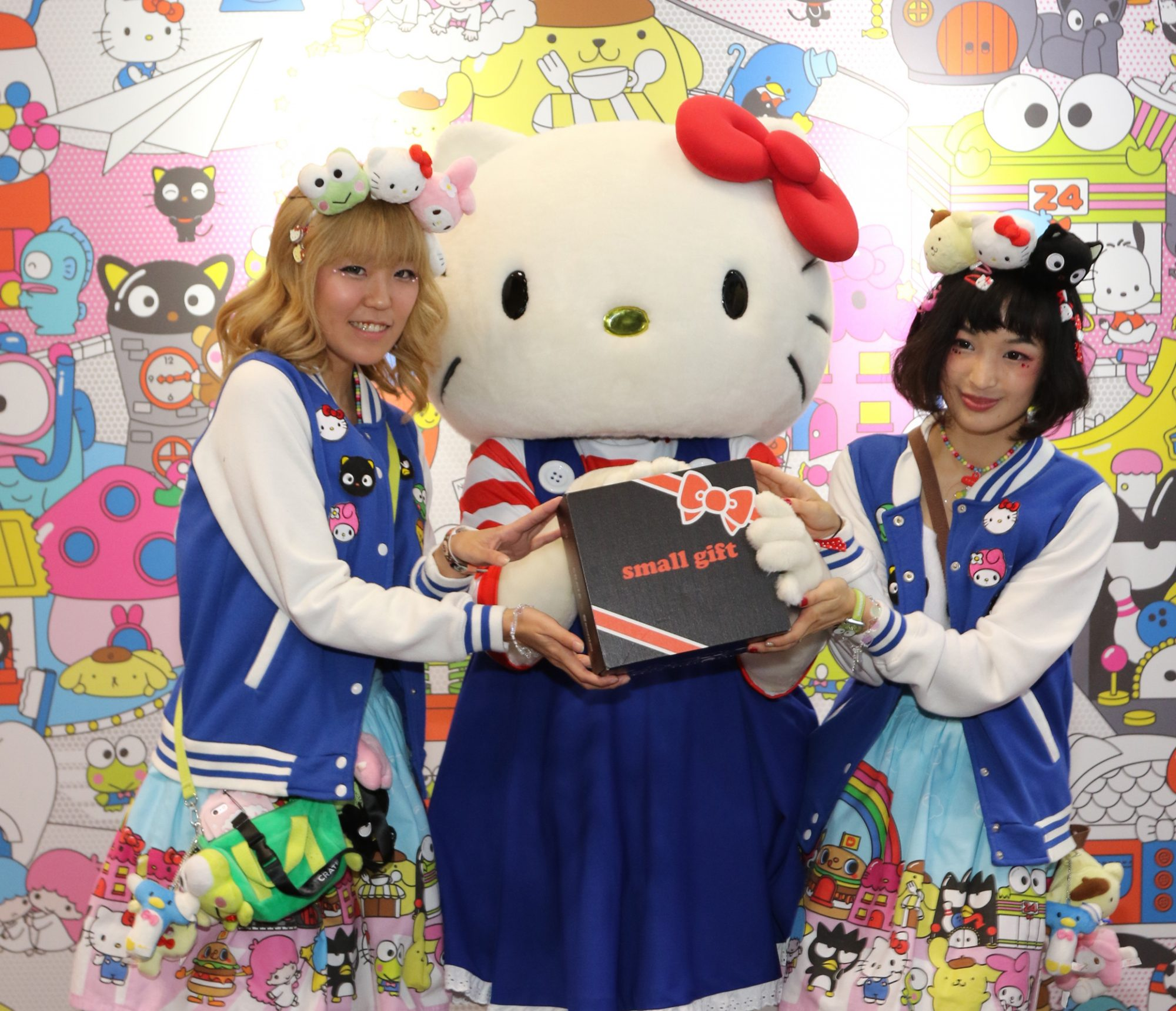 Hello Kitty & Sanrio Ambassadors with Sanrio 'Small Gift' Crate - Loot Crate Booth  New York Comic-Con