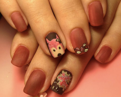 nails-foxes-fall-art
