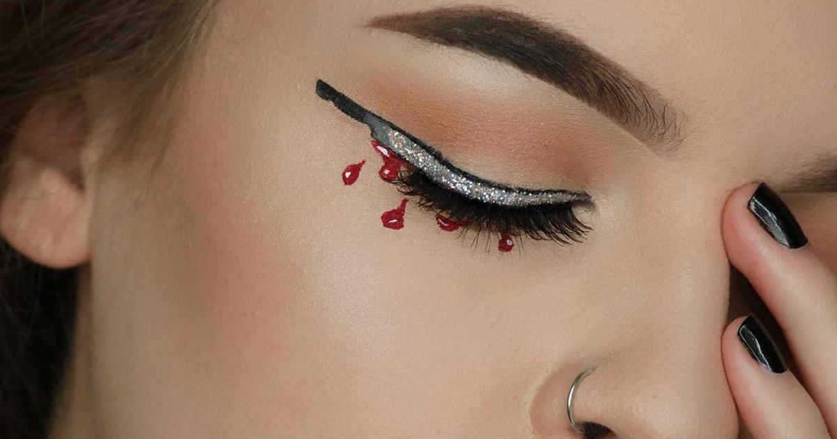 Knifeliner eyeline trend