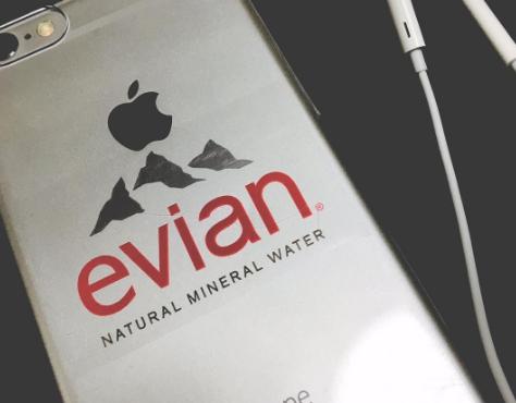 evian iphone