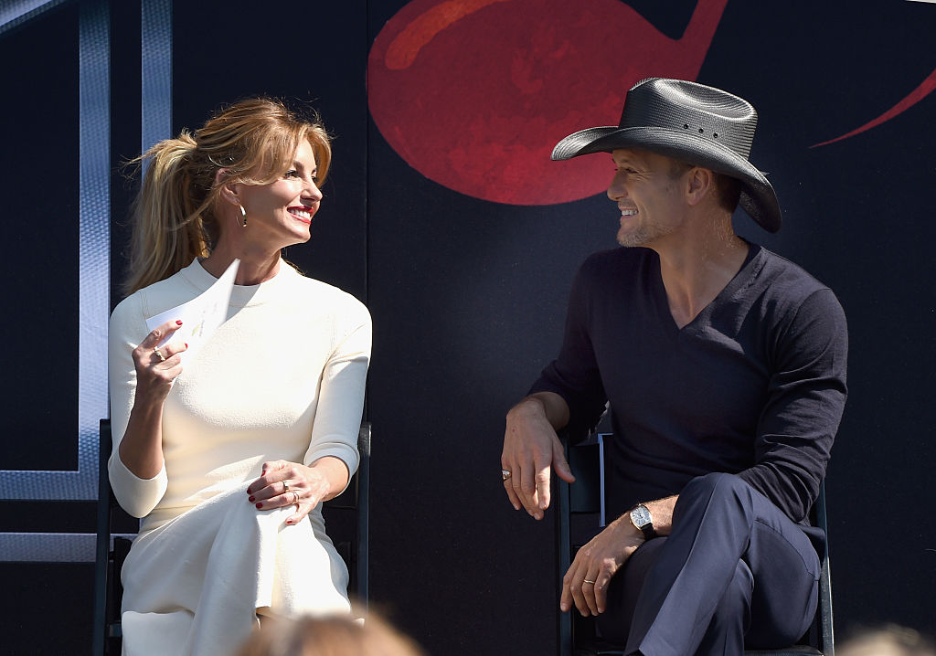 Faith Hill And Tim McGraw Nashville Music City Walk Of Fame Induction Ceremony