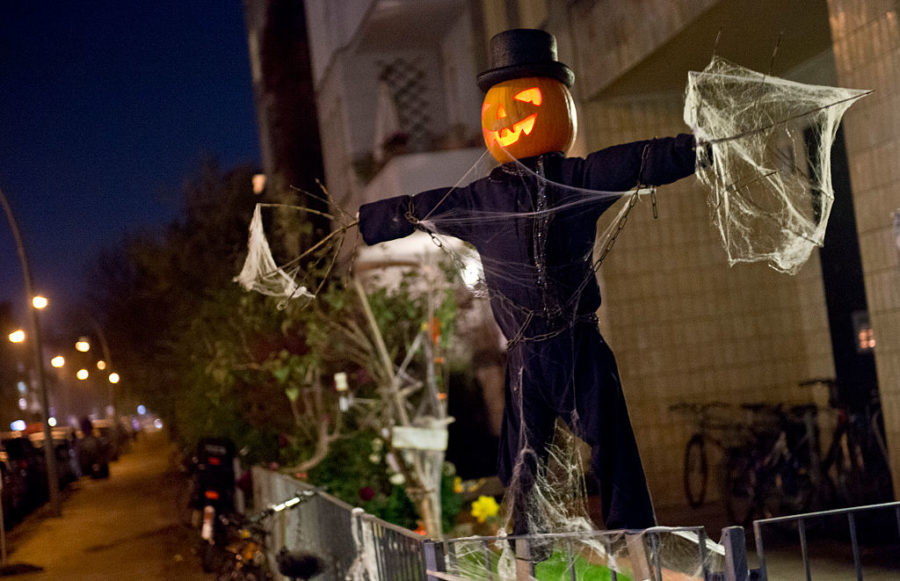 Halloween Character With Pumpkin Head