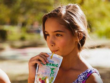 Picture of Girl Drinking Capri Sun