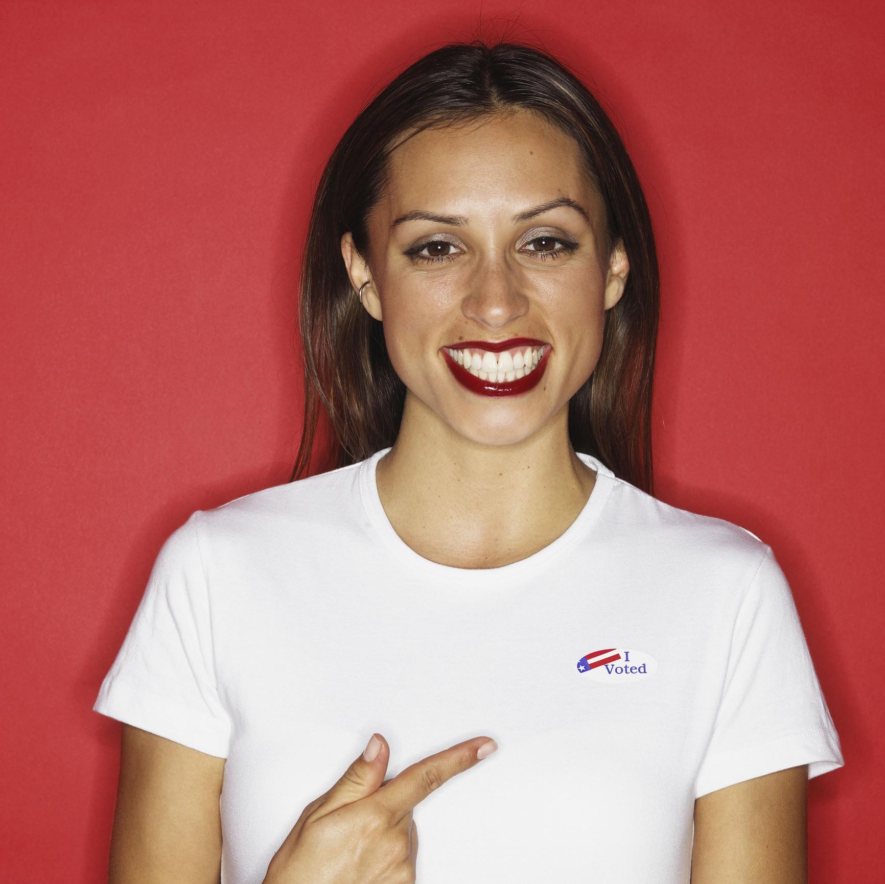 Proud voter