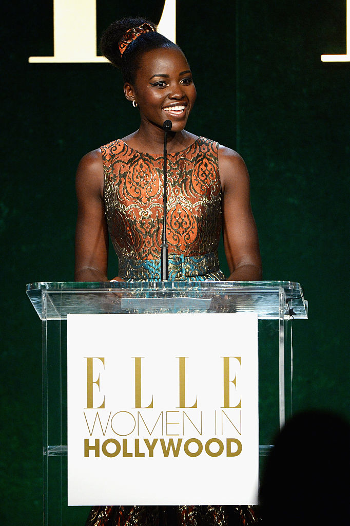LOS ANGELES, CA - OCTOBER 24:  Honoree Lupita Nyong'o speaks onstage during the 23rd Annual ELLE Women In Hollywood Awards at Four Seasons Hotel Los Angeles at Beverly Hills on October 24, 2016 in Los Angeles, California.  (Photo by Michael Kovac/Getty Images for ELLE)