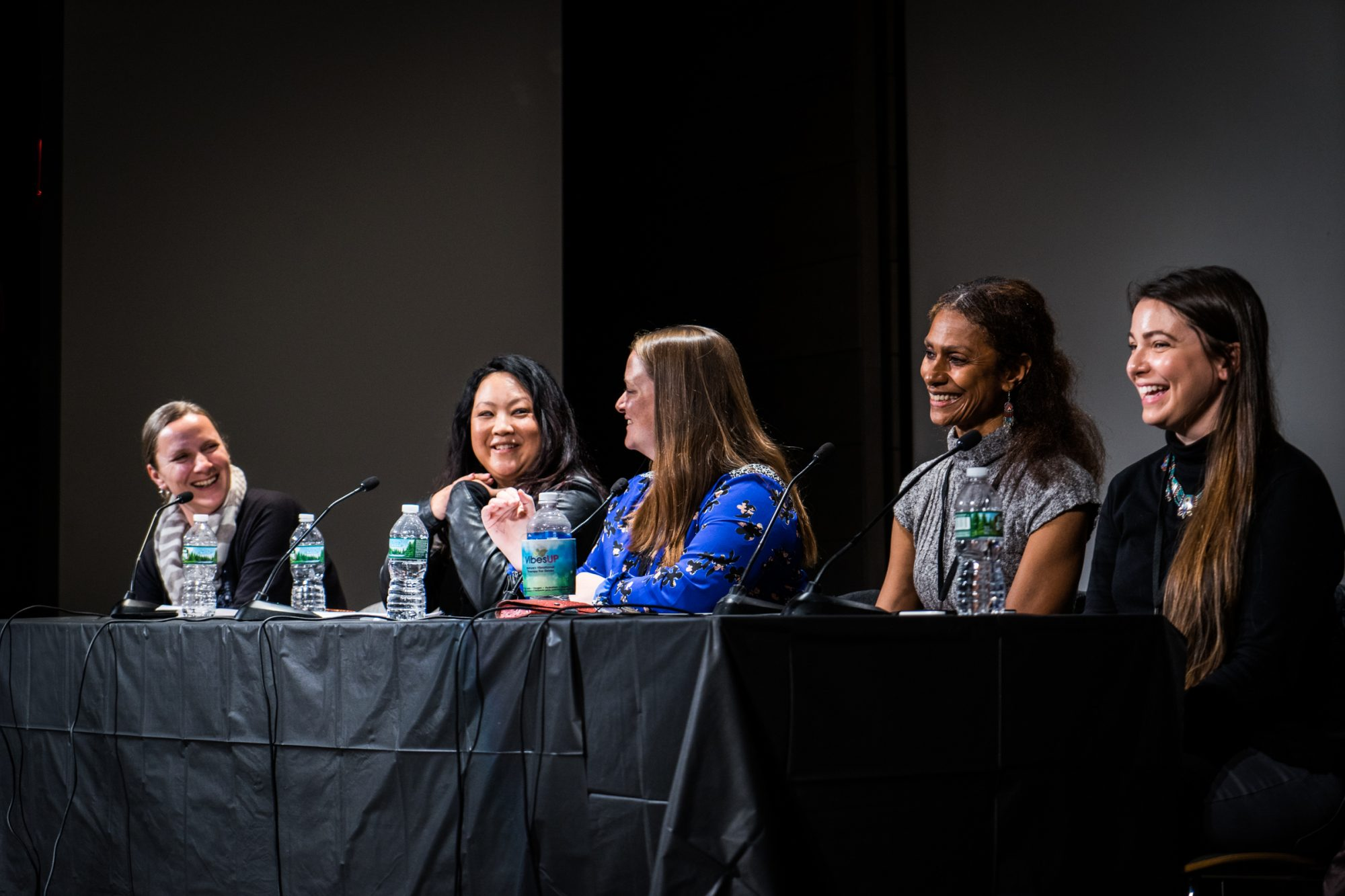 From left to right: Lori A. May, Leslie Hsu Oh, Meredith Bethune, Felice Neals, Hillary Richard