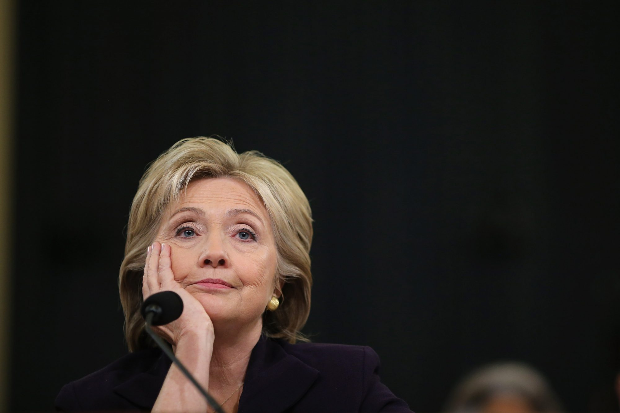 Hillary Clinton bored