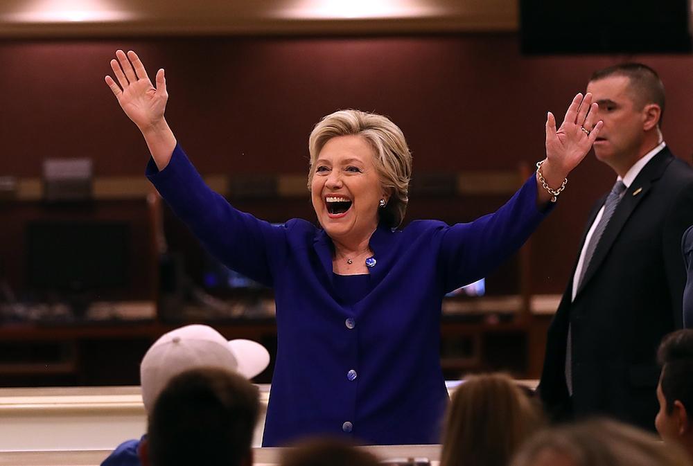 Democratic Presidential Nominee Hillary Clinton Campaigns In Nevada And Arizona