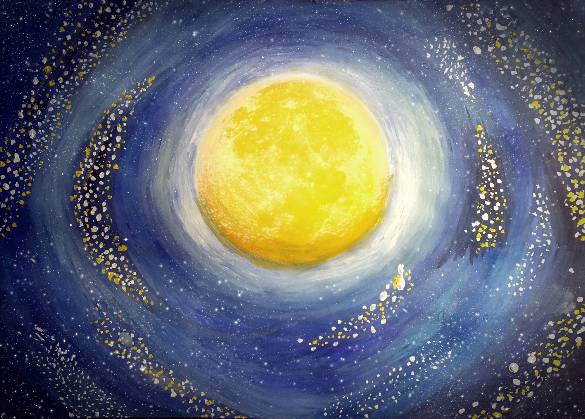 Painted moon