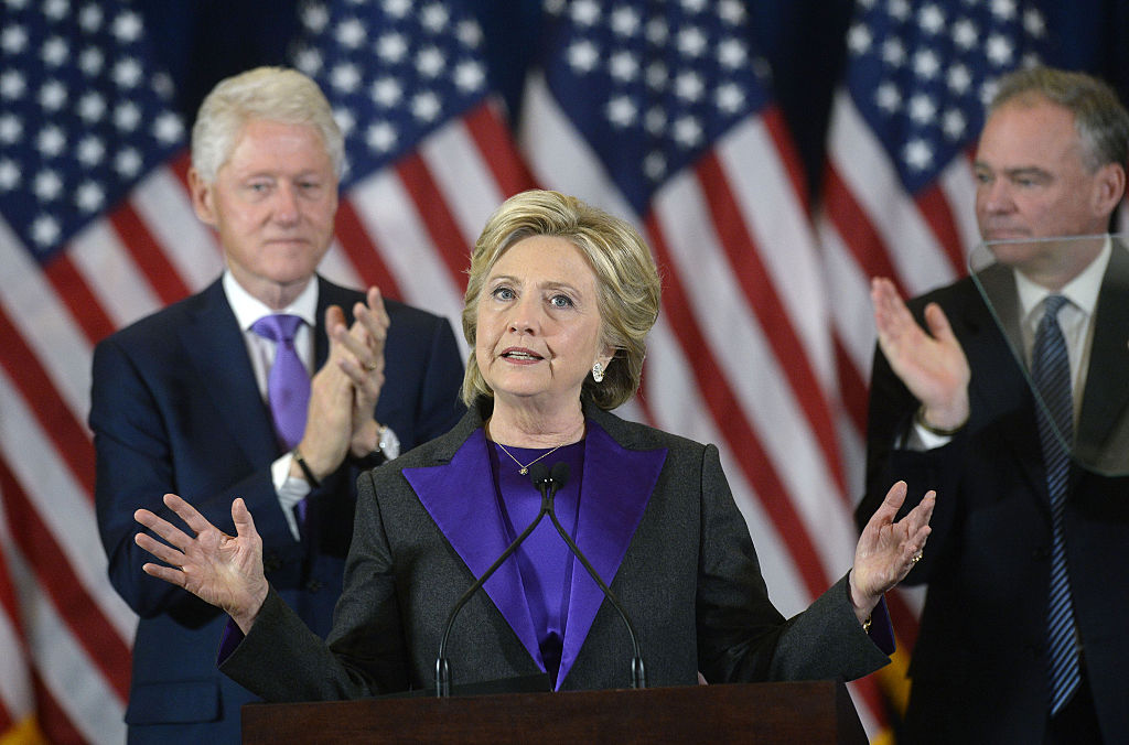 Former Democratic Presidential Nominee Hillary Clinton Delivers Remarks After Election Night Loss