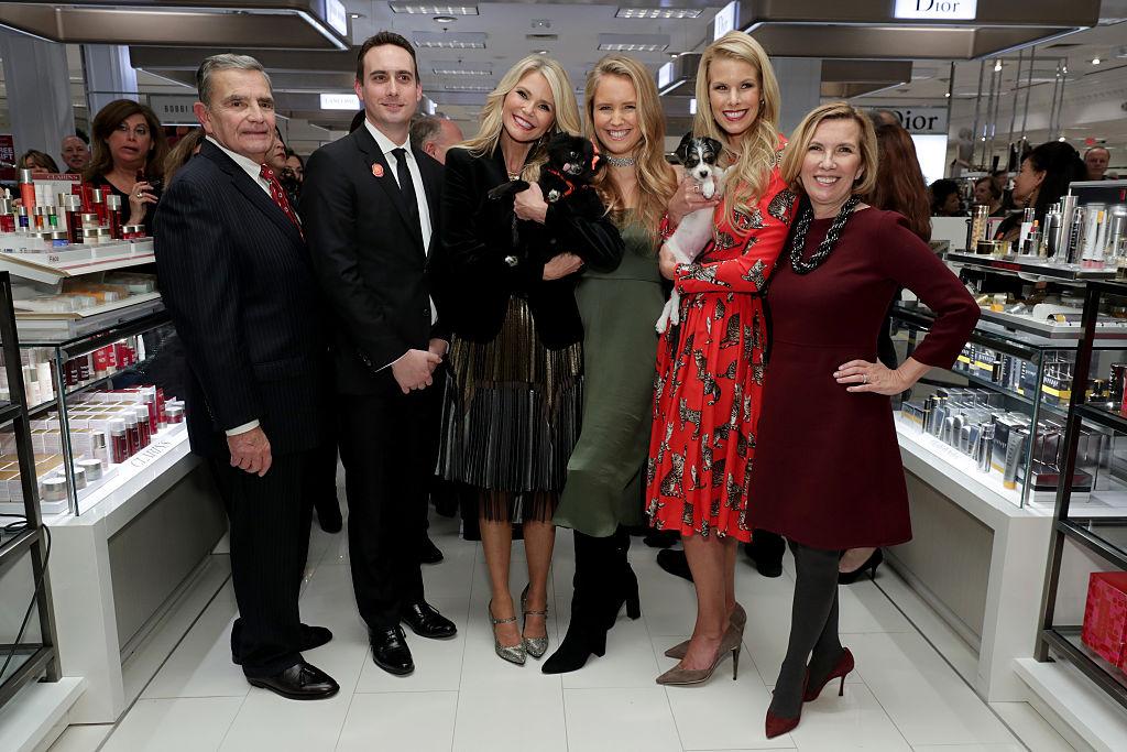 Mayor of Garden City Nicholas Episcopia, Tim Catalano, Liz Rodbell, Christie Brinkley, Beth Stern and Sailor Brinkley