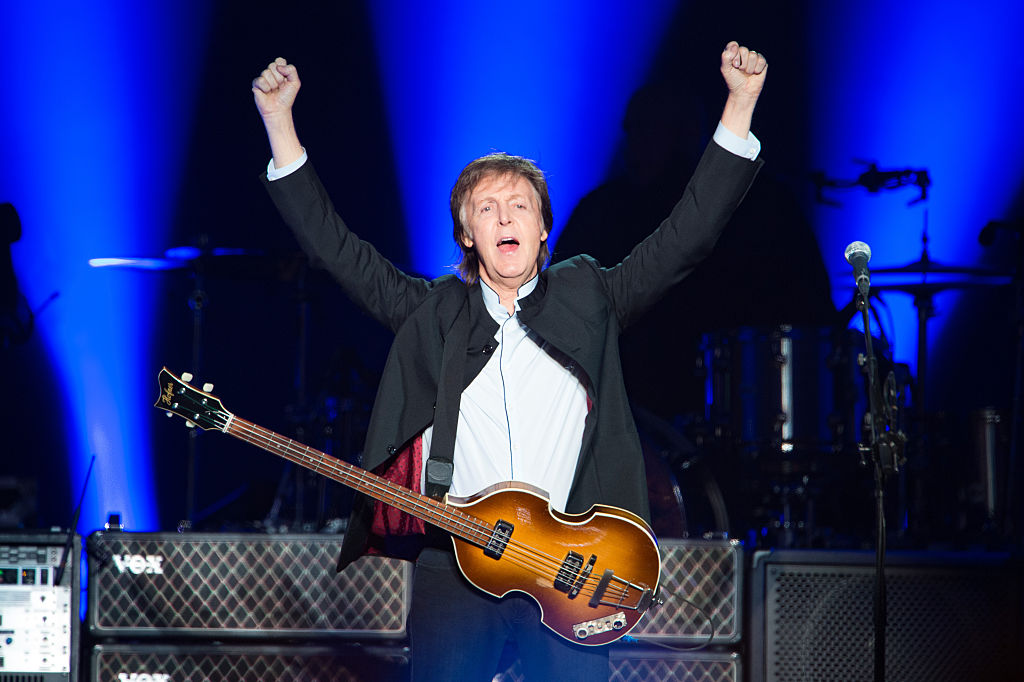 Paul McCartney Performs At AccorHotels Arena Bercy In Paris