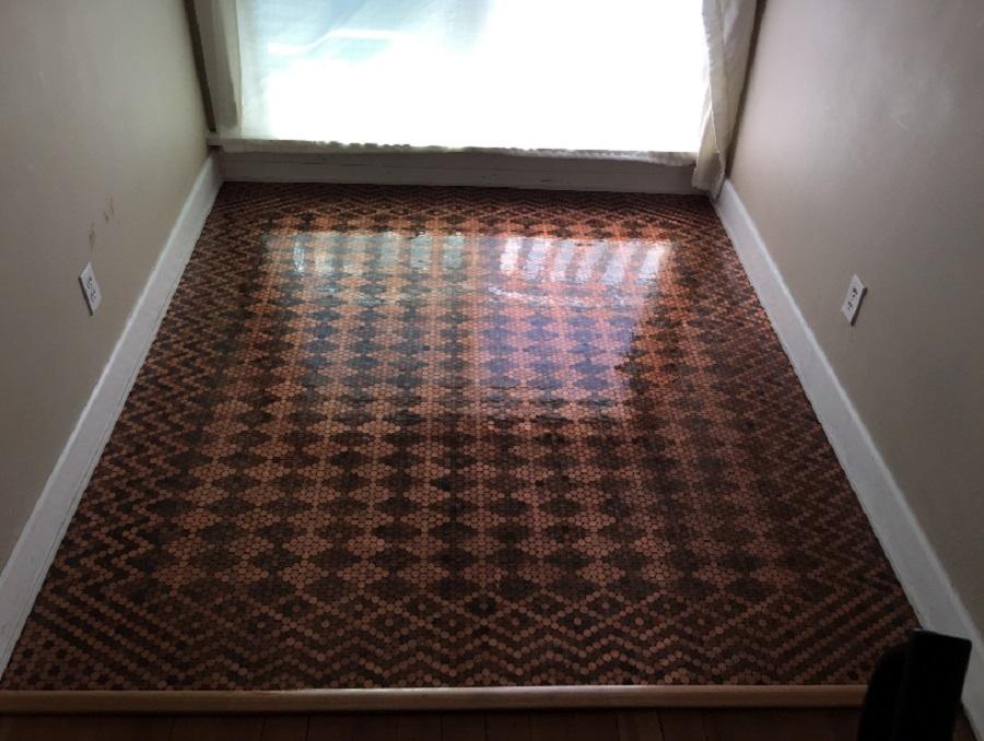 floor-made-of-pennies