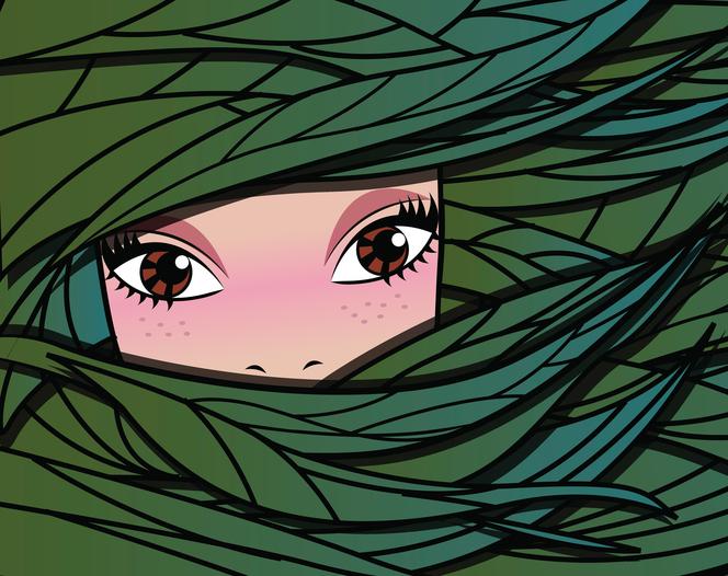 Fairy forest girl, vector illustration