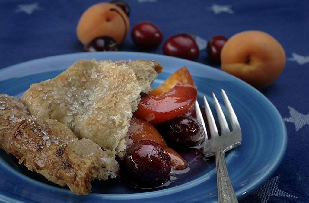 A slice of Apricot and Cherry Pie. Photographed in the Times studio, June 21, 2007.