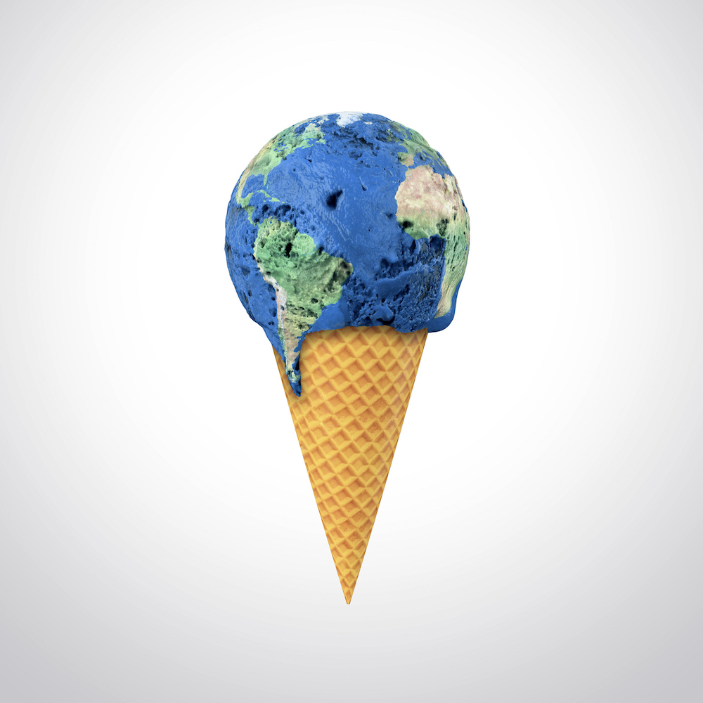 Global warming, conceptual artwork