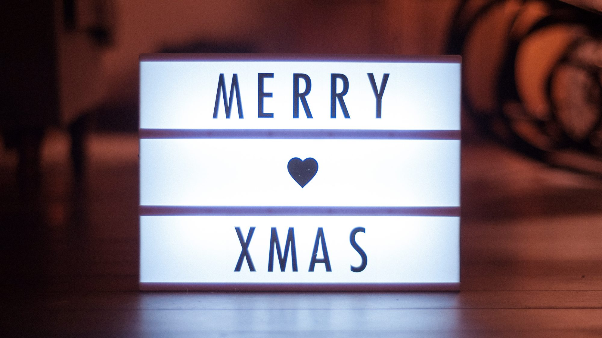 merry xmas light box
