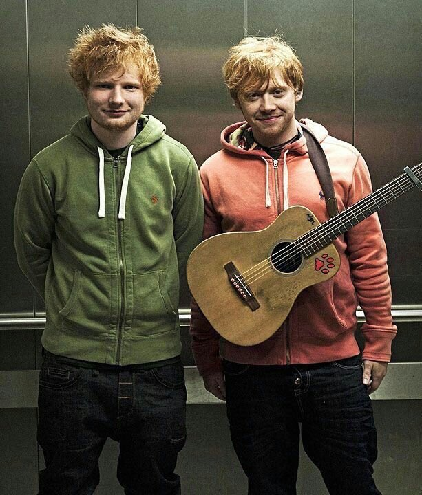 Ed Sheeran and Rupert Grint