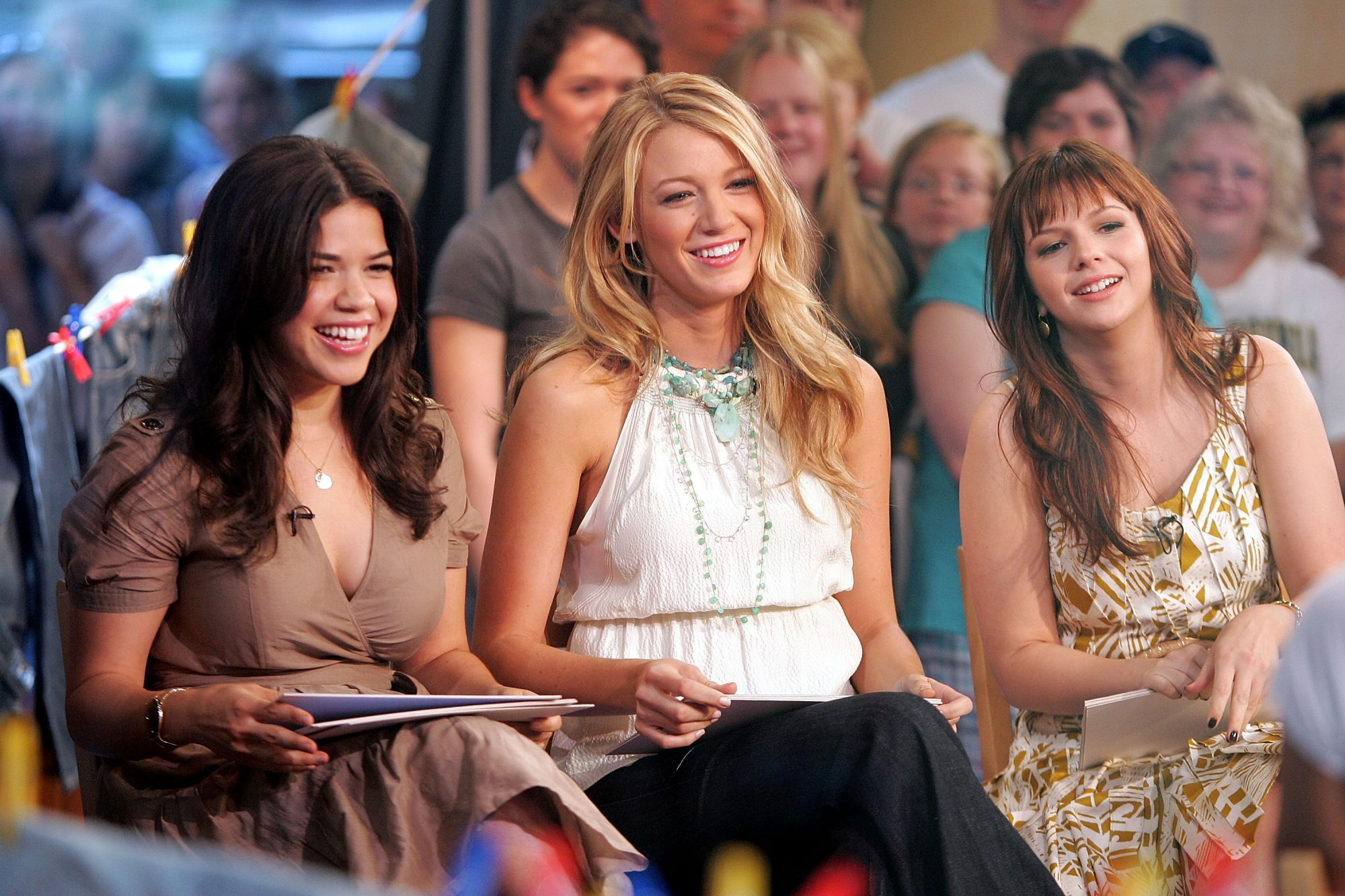 """Blake Lively, America Ferrera, Amber Tamblyn and Alexis Bledel Visit ABC's """"Good Morning America"""" - August 4, 2008"""