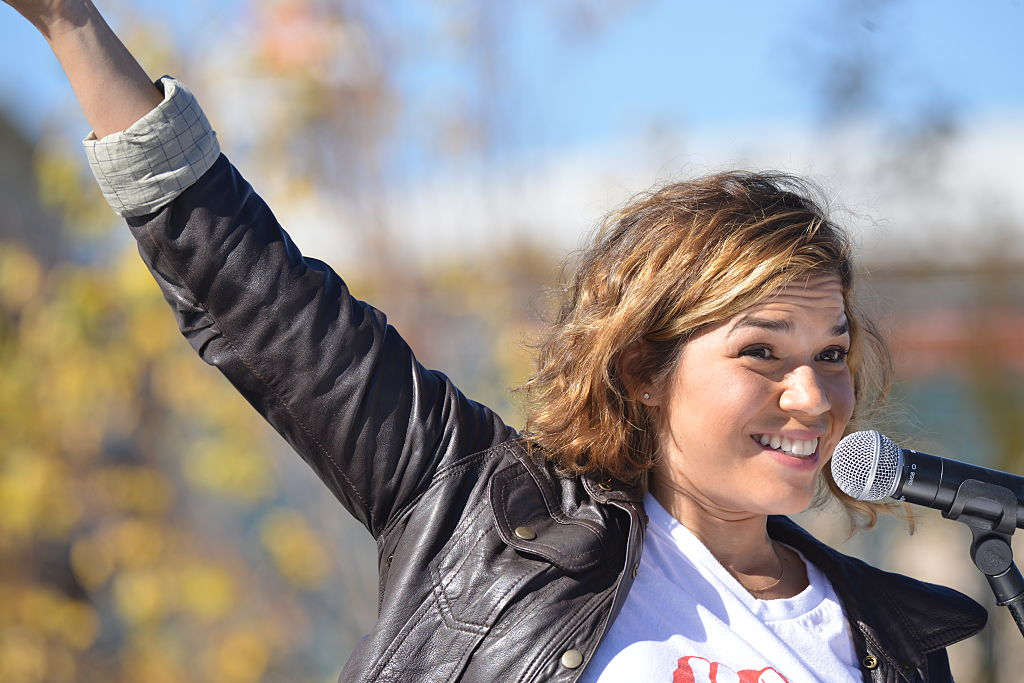 America Ferrera And Voto Latino President Host Rally To Encourage Young Latinos To Register To Vote