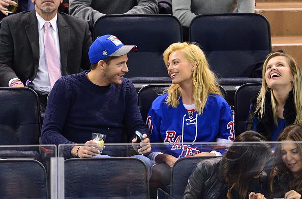 Celebrities Attend The Philadelphia Flyers Vs New York Rangers Game - November 19, 2014