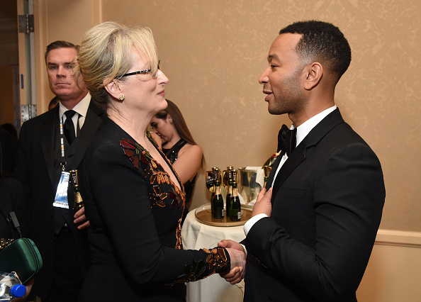 Moet & Chandon At The 74th Annual Golden Globe Awards - Backstage