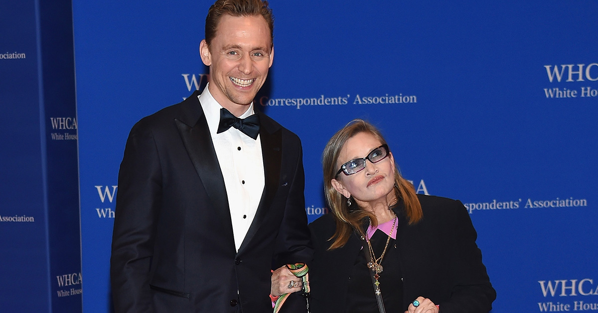 Tom Hiddleston and Carrie Fisher