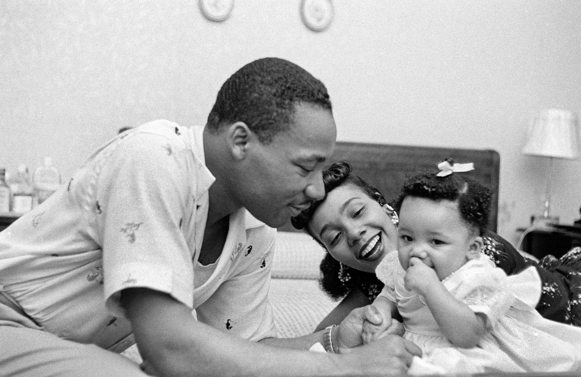 King At Home With His Family