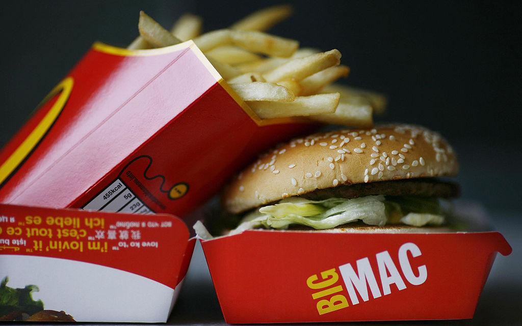 A Big Mac hamburger and french fries