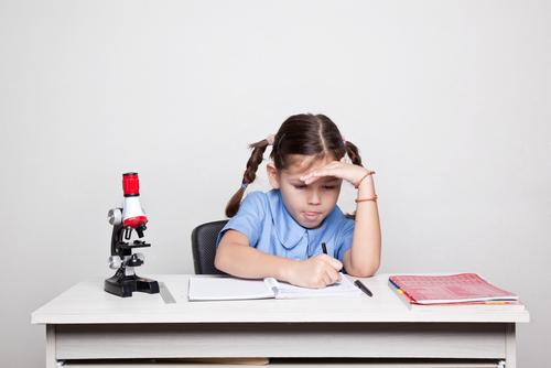 girl school desk