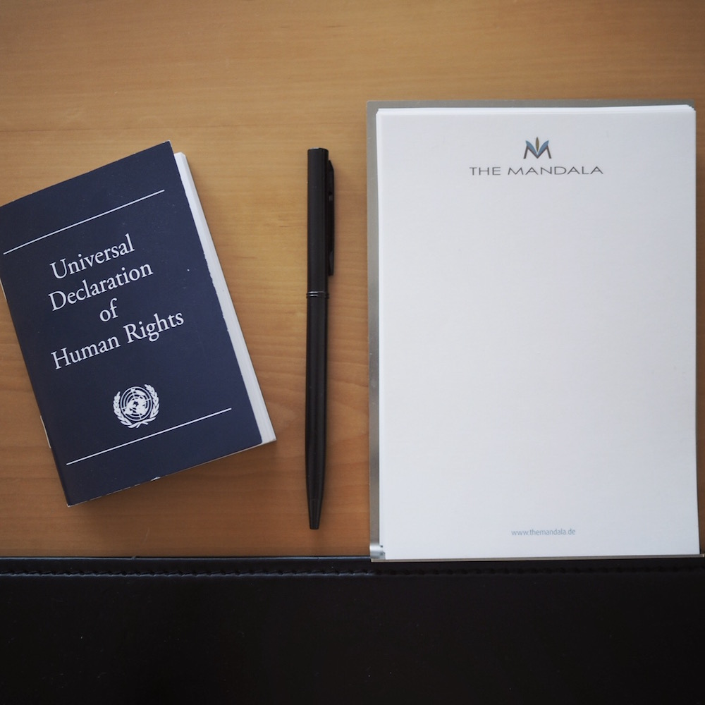 A copy of the Universal Declaration of Human Rights