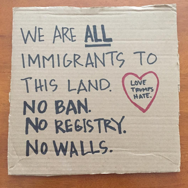 immigration ban sign