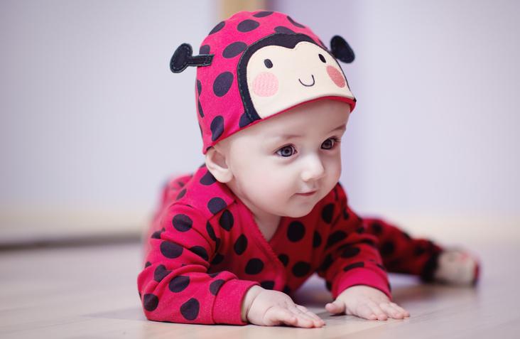Cute Baby with Ladybug Costume