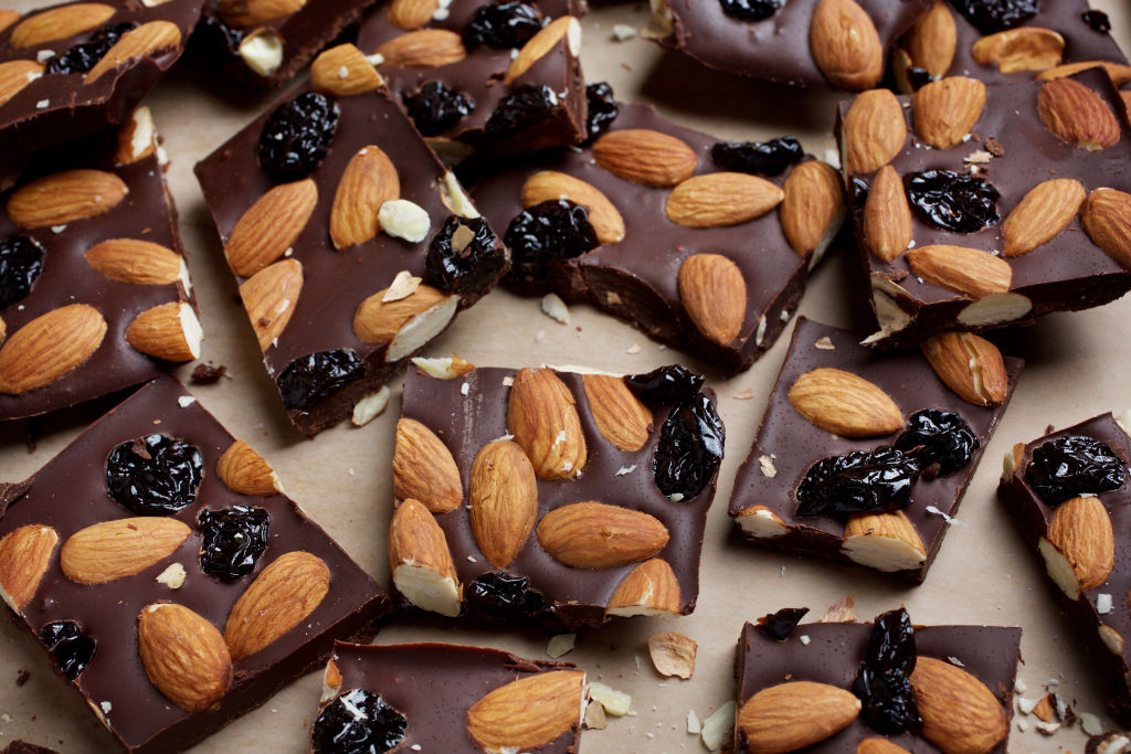 Chocolate Almond Cherry Bark