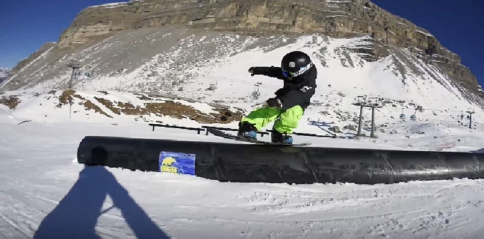 six year old snowboarder
