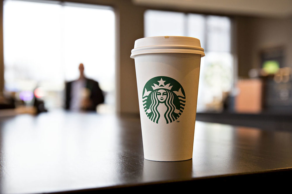 A Starbucks customer received a cup with a racial slur on it.