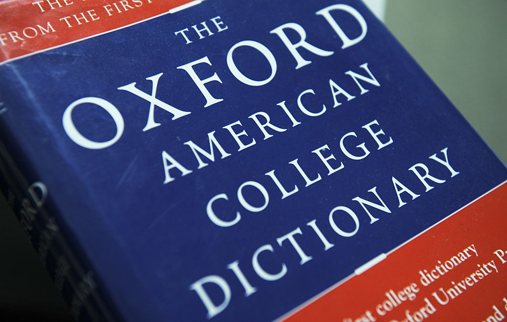 View of the Oxford American College dict