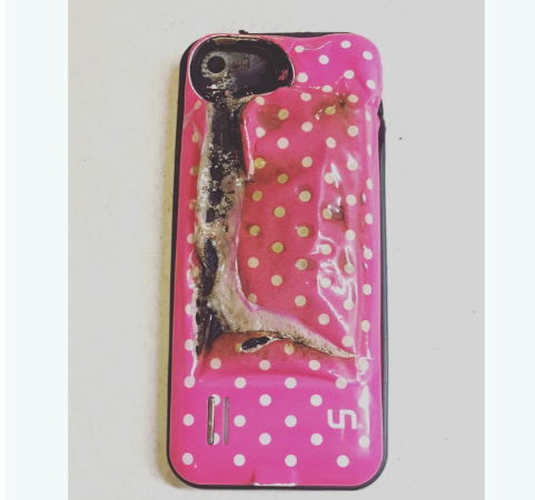 melted iphone