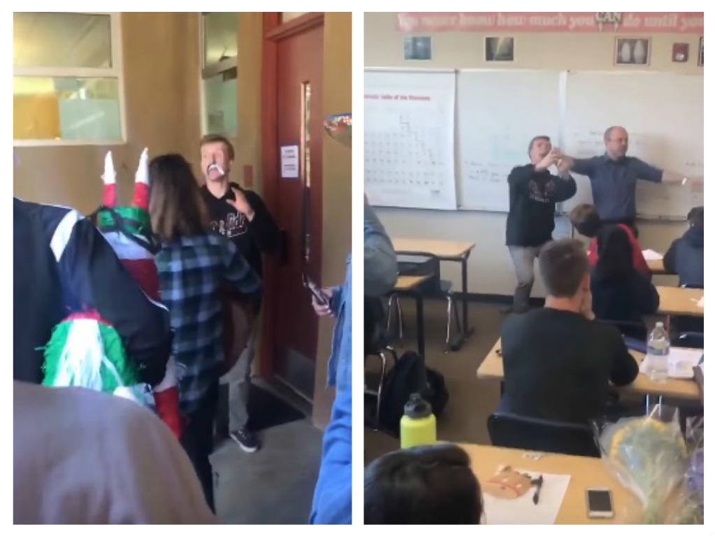 teacher birthday party prank