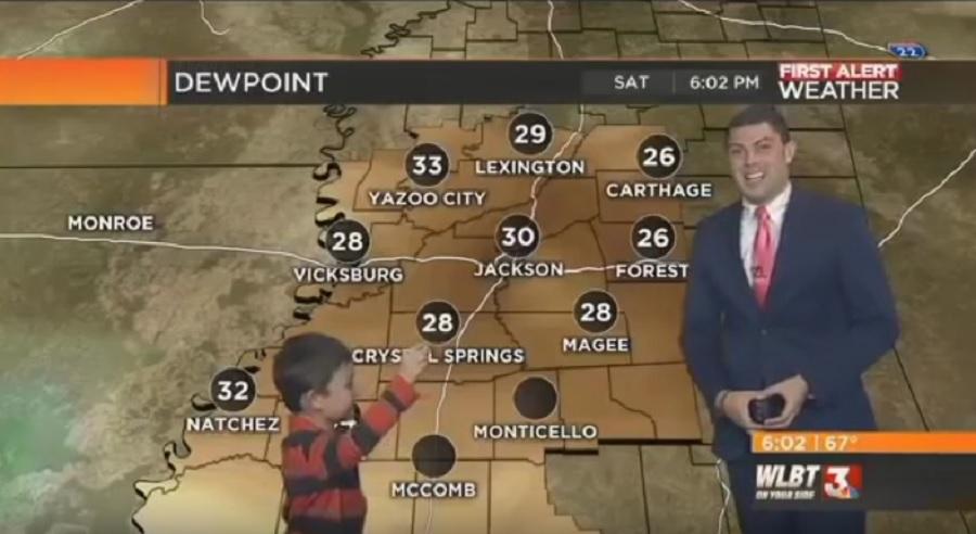 kid farts on weatherman